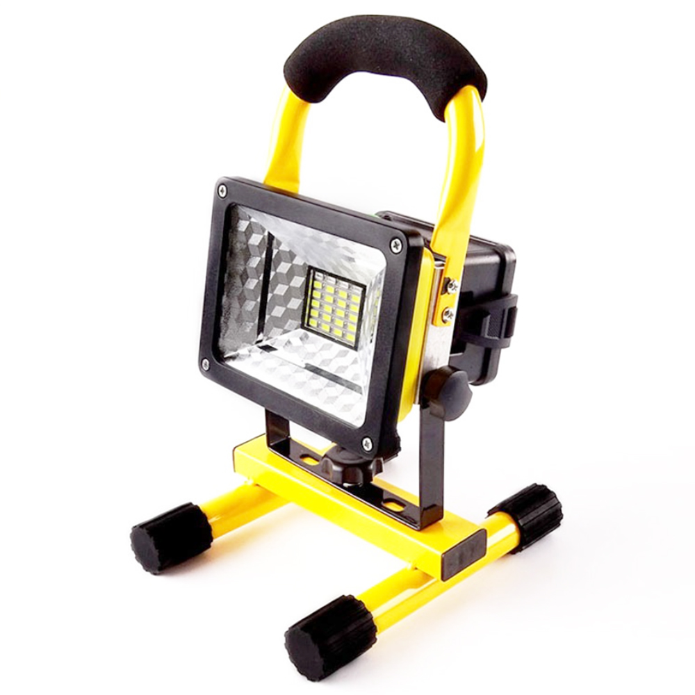Us 33 1 30w 24 Led Flood Light Portable Led Work Light Power By 18650 Rechargeable Battery Outdoor Camping Floodlight In Floodlights From Lights