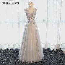 egant Flowers Lace Appliques Prom Gowns