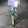 Европа Мода Тату Цветные Колготки Женщины Напечатаны Чулочно-Носочные Изделия