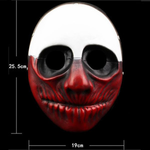 Image 5 - Payday 2 Mask Resin The Heist Dallas/Wolf/Chains/Hoxton cosplay halloween horror clown masquerade cosplay Carnaval Costume men