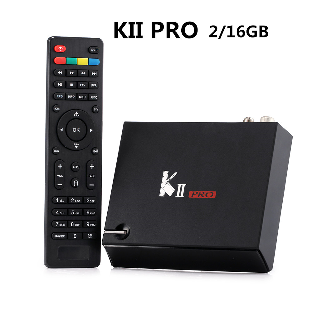 KII PRO DVB-S2 DVB-T2 S905d Android 7.1 TV Box Quad Core 2GB 16GB K2 pro DVB T2 S2 4K Media player CCCAM NEWCAMD Dual Wifi BT4.1 цена