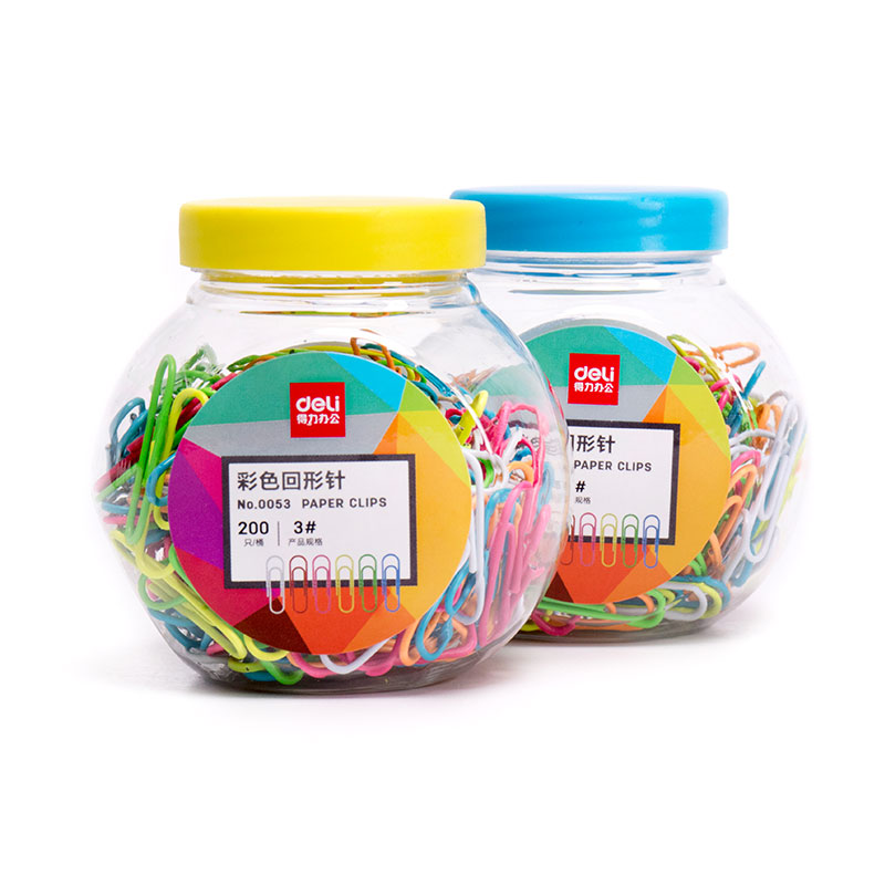 4 set/Lot Color Clips 200 pcs metal paper clips for file memo clamp Scrapbooking stationary office School supplies A6113 2018 pet transparent sticky notes and memo pad self adhesiv memo pad colored post sticker papelaria office school supplies