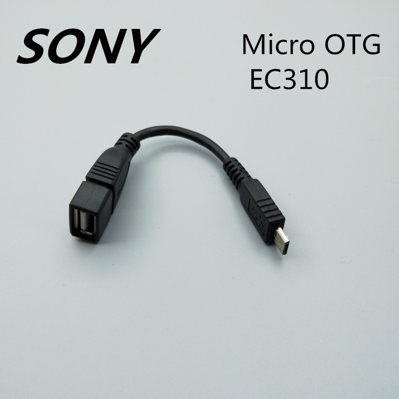 Micro USB to OTG Works with Sony Xperia sola Direct On-The-Go Connection Kit and Cable Adapter! Black