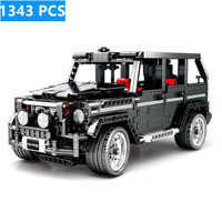 1343pcs Technical Blocks Legoed City Motor Toys Merceding Benzs car building Block Simulation Big G Model toys for Kid Birthday