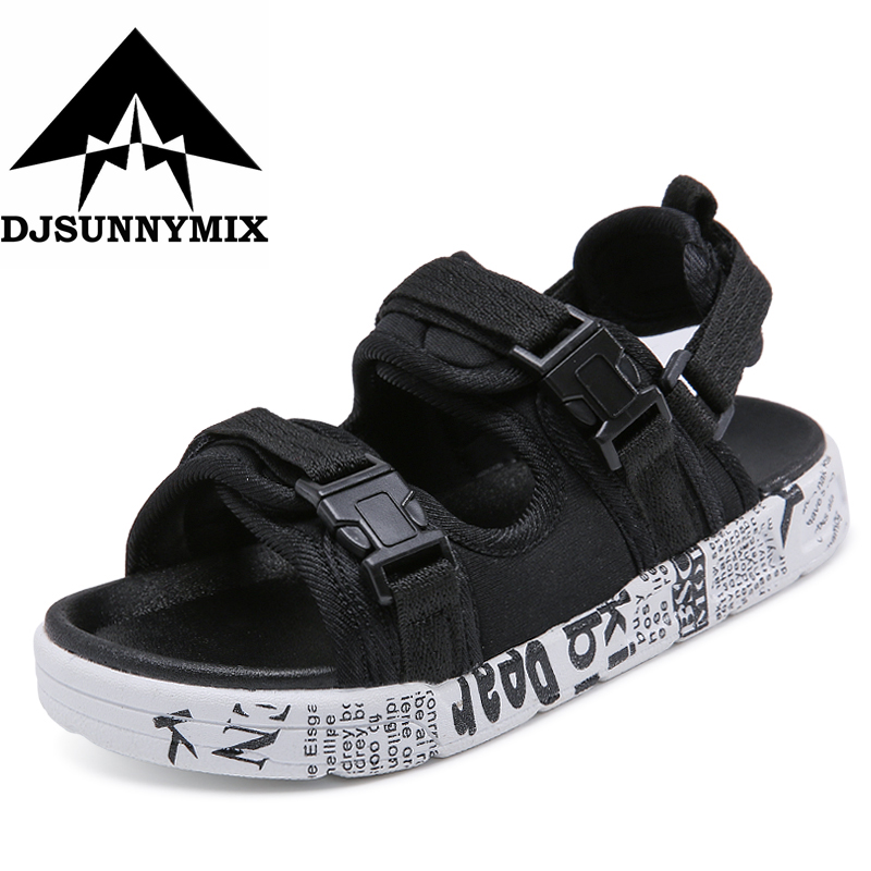 DJSUNNYMIX 2018 summer beach kids shoes closed toe sandals for boys and girls designer toddler sandals for 4 15 years old kids