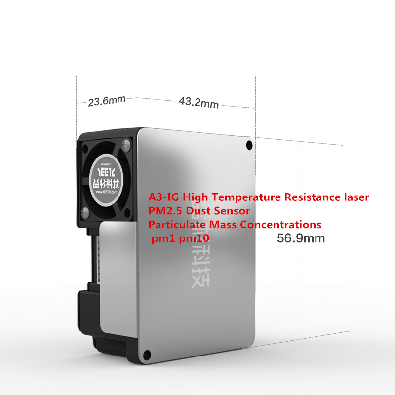 A3-IG High Temperature Resistance laser PM2.5 Dust Sensor Particulate Mass Concentrations pm1 pm10 UART/PWM Output PM0.3-PM10A3-IG High Temperature Resistance laser PM2.5 Dust Sensor Particulate Mass Concentrations pm1 pm10 UART/PWM Output PM0.3-PM10