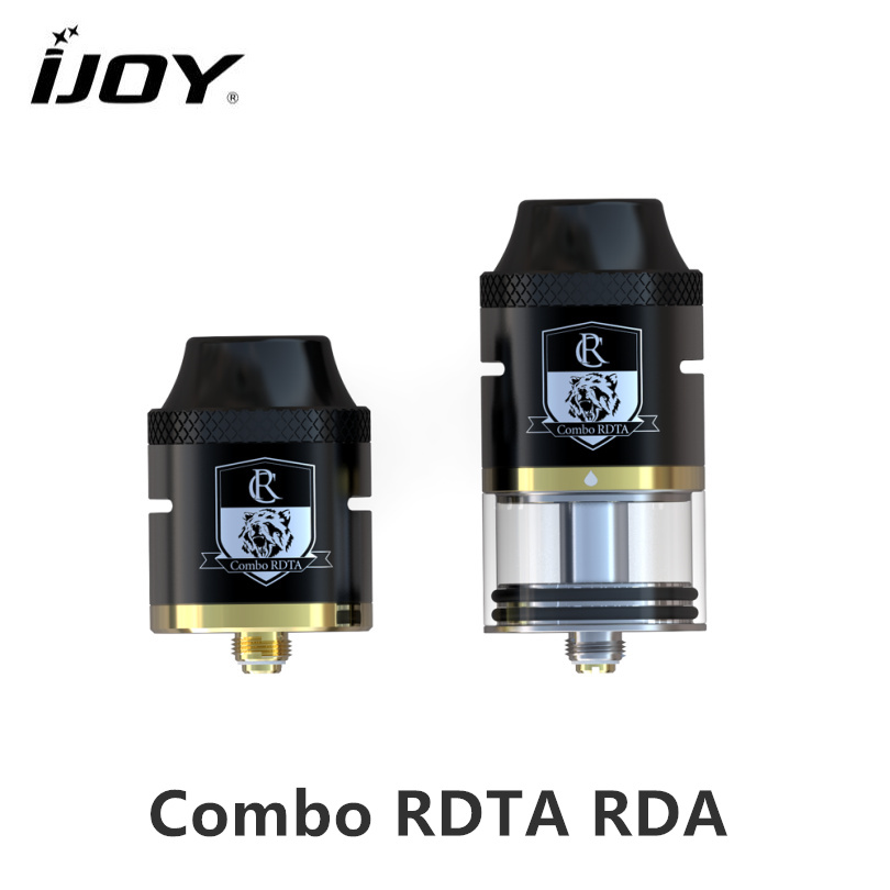 Original iJOY Combo RDTA RDA Sub Ohm Tank 6.5ml capacity Atomizer With Side Filling System For E Cigarette 510 thread Box Vape original 225w ijoy captain pd1865 full kit with wondervape rda tank atomizer