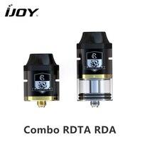 Original ijoy combo rdta rda sub ohm tanque atomizador capacidade de 6.5 ml com o Lado Do Sistema de Enchimento Para E Cigarro 510 fio Caixa Vape