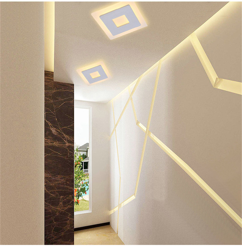 HTB1Keb3X4rvK1RjSszeq6yObFXaO 18w LED Ceiling Light Aluminum Acrylic Home Decor Ceiling Lamp Bedroom Living Room Hallway Lighting Light Fixture BL09x