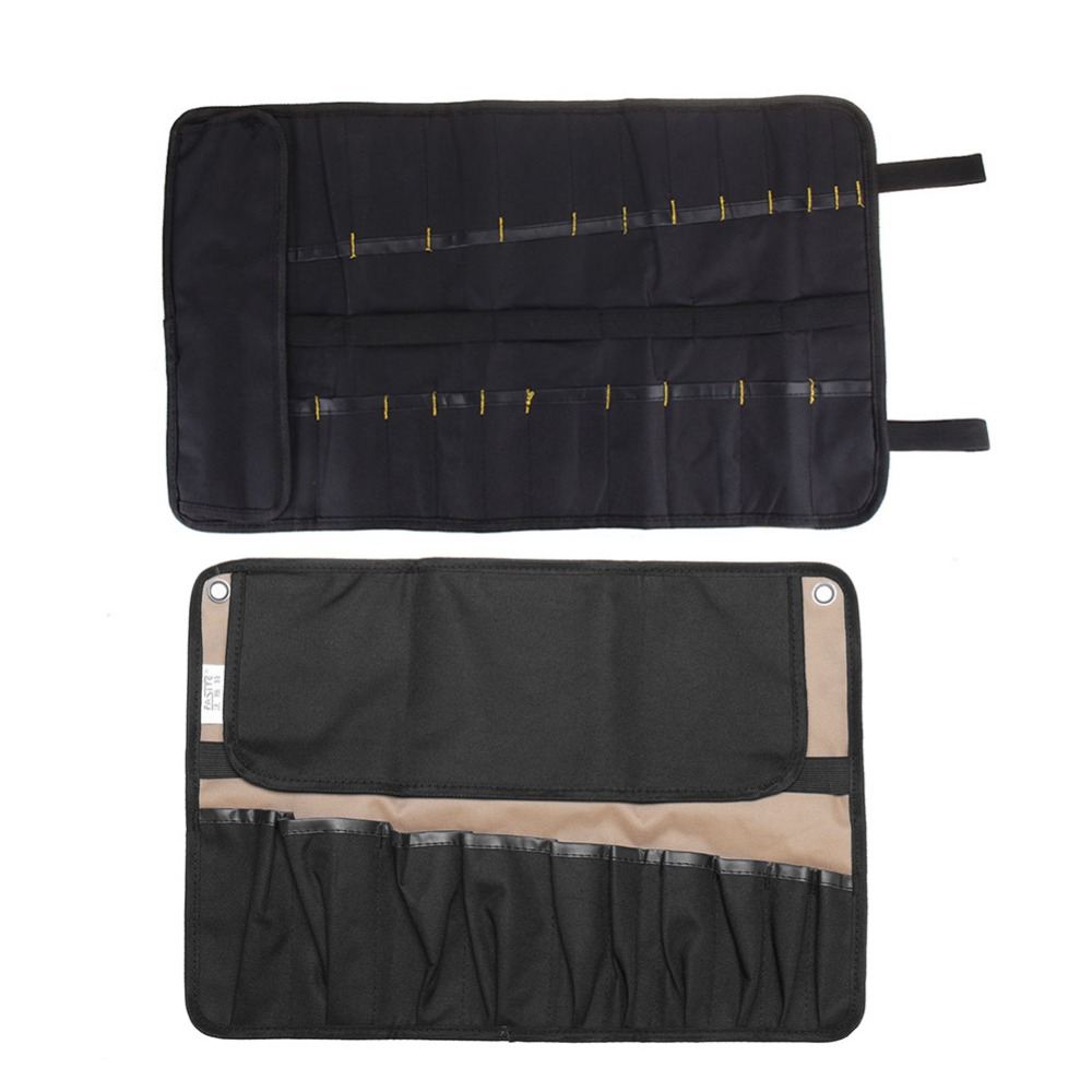 NEW Arrivals Oxford Cloth Chef Knife Tool Belt Bag Repair Roll Bag Portable Kitchen Utensil Storage Carry Case Kitbag