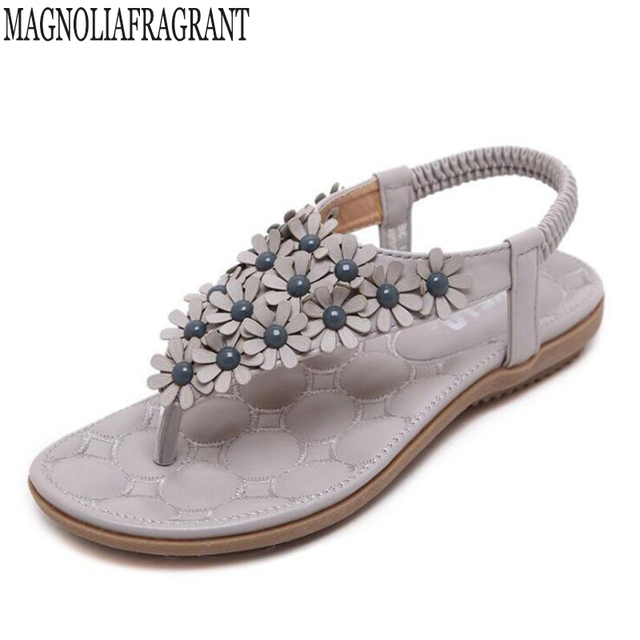 381f640824901e platform shoes Bohemian Women Sandals Gemstone Beaded Slippers Summer Beach Sandals  Women Flip Flops Ladies Flat Sandals Shoes k