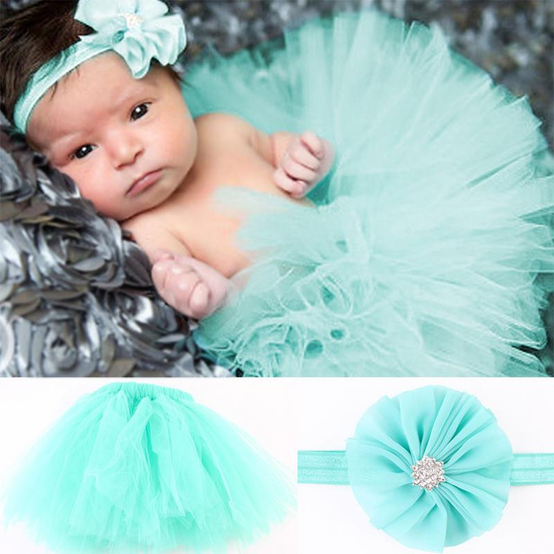 2016 New Design Baby Girl Tulle Tutu Skirt Newborn Photography Props Bowknot Baby Tutu Skirt Gift For 0-6 Months