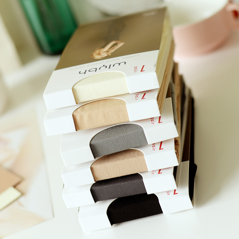 KL517 Collant 80D matte solid velvet elegant pantyhose women high quality healthy skin color thin tights