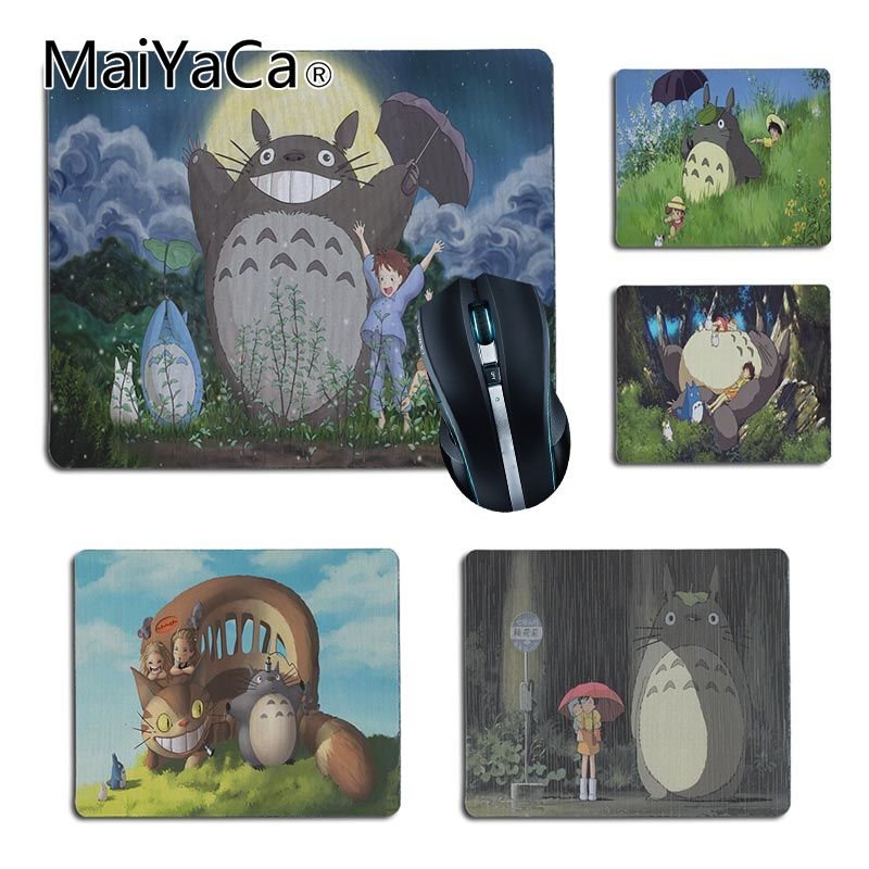 MaiYaCa anime Totoro and friends Gamer Speed Mice Retail Small Rubber Mousepad Size for 180x220x2mm 250x290x2mm Small Mousepad