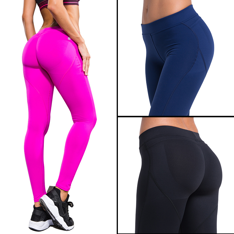 купить Women's Running Pants Compression Tights Sexy Hips Push Up Leggings Fitness Pants Quick Dry Elastic Trousers по цене 832.97 рублей