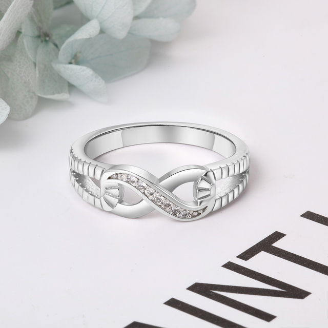 Sterling Silver Infinity Fashion Ring for Women  2