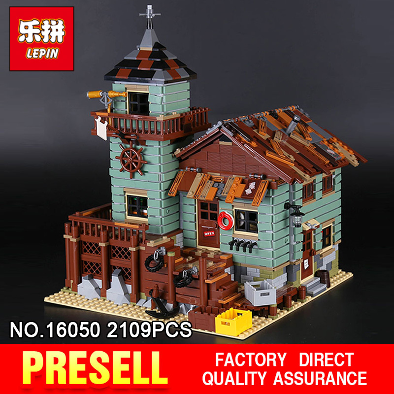 Lepin 16050 2109Pcs Creative MOC Series The Old Finishing Store Set Children Educational Building Blocks Bricks Toys Model 21310 managing the store