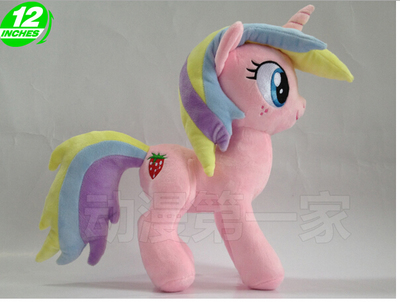 1PCS 32CM 288g new unicorn M L P Holly Dash little pet horse cotton plush doll печенье orion goute 288g