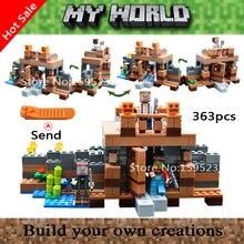363 шт. МОЙ МИР Сражающегося Города Стены legoes Minecrafted Minifigures Строительные Блоки Кирпичи Игрушки Мальчик Подарок LR-805