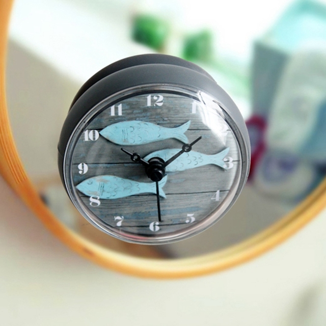 Badezimmer k che wasserdicht dusche wand mini watermel uhr for Uhr wand design