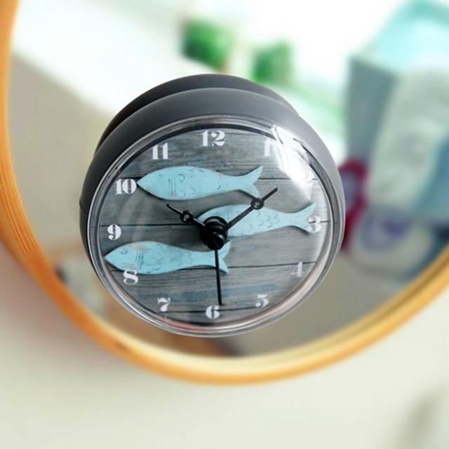 € 7.52 48% de réduction|Salle de bains cuisine étanche mur de douche mini  watermel horloge montre ventouse à piles salon moderne Design de mode ...