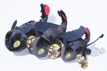 How To Train Your Dragon 3 Night Fury Plush Toy 9″ Toothless Doll  Toy Stuffed Soft Animal Cartoon Gift for Children Doll 23cm