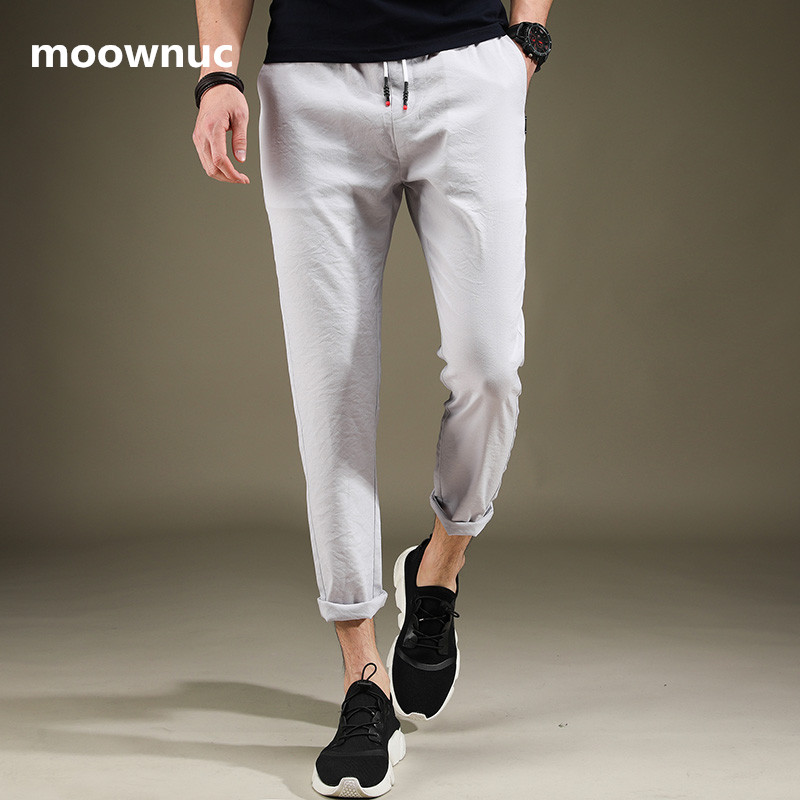 Summer Pants Trousers Teenager's-Pants Harem Ankle-Length Casual Students Masculino Lightweight