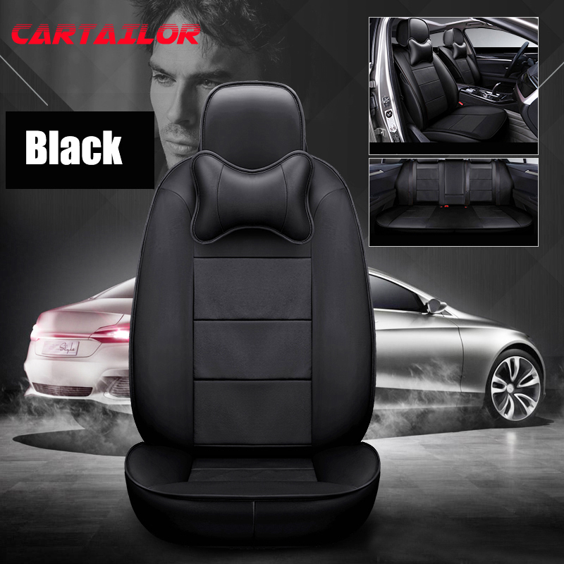 CARTAILOR Front & Rear Cover Seat for Suzuki Jimny Leather Car Seat Covers Interior Accessories Set Automobile Seats Protection