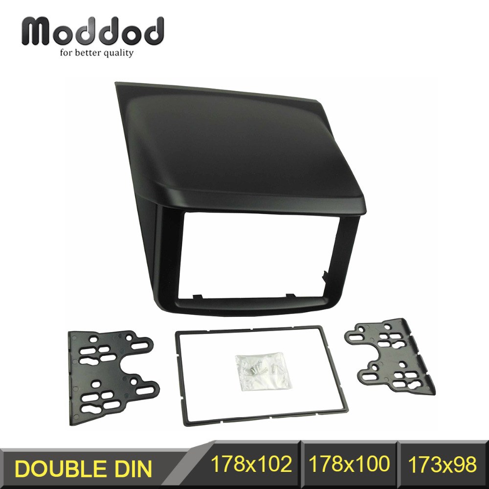 Double Din Fascia for Mitsubishi Pajero Sport Triton Radio DVD Stereo Panel Dash Mounting Installation Trim