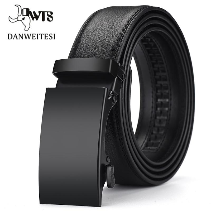 [DWTS]Genuine Leather Belts For Men Automatic Male Belts Cummerbunds Leather Belt Men dropshipping Black Belts cinturon hombre
