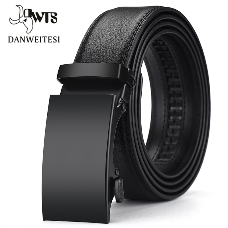 [DWTS]Men Belt Male Genuine Leather Belts For Men Automatic Male Belts Leather Belt Men Dropshipping Black Belts Cinturon Hombre