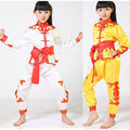 Crianças de cetim menino roupas Wushu Taekwondo Dobok Costume Kimono Judo Terno Chinês Kung Fu Tai Chi Roupas Roupas de Artes marciais Uniforme