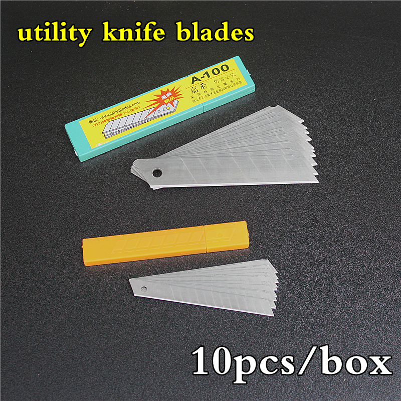 Art Blade Stainless Steel Utility Knife Blades Trimmer Sculpture Blade Utility Knife General 10pcs/pack