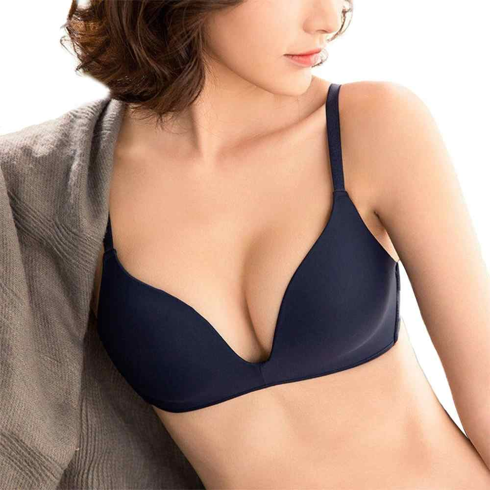 Seamless Bras for Women Push Up Bras No Wire Brassiere A B Cup Underwear Sexy Bra Three Quarters(3/4 Cup) Bra Women lingerie