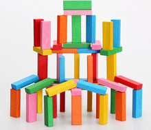 New wooden toy 54 piece Blocks Classlc game Tower Baby Free shipping
