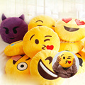 32 cm Hot 20 Estilos Emoji Smiley Emoticon Macio Almofada Redonda o que é app emoji Pillow Stuffed Plush Toy Boneca de Natal Almofada A6