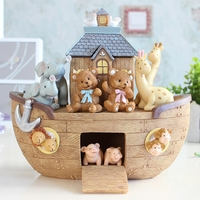 Creative Animal Boat Ornaments High end Birthday Gifts Home Decorations Craft Accessories