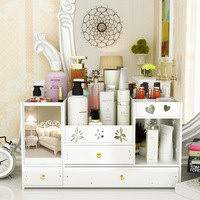 Household desktop drawer skin care products mirror dressing table finishing box cosmetic storage box rack ZP12101801