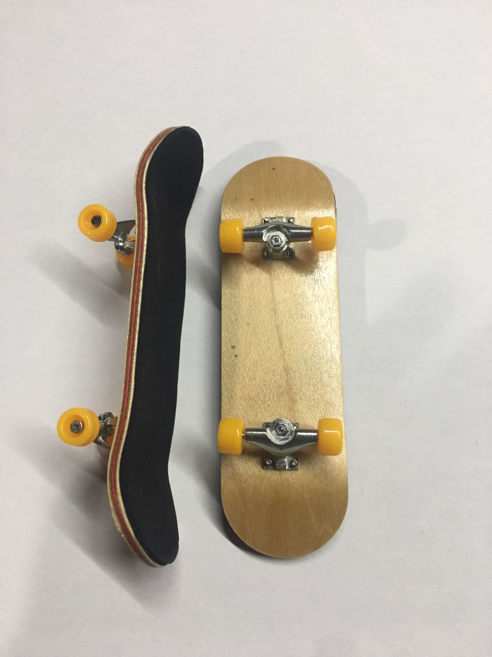 Complete Wooden Fingerboard Finger Skateboard Grit Box Foam Tape Maple Wood
