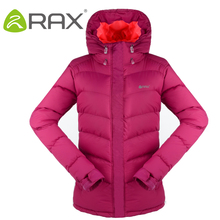 RAX Outdoor Hiking Jacket Women Autumn Winter Warm Coat Down Warm Camping Jacket Waterproof Windproof Fashion Slim Hiking Down
