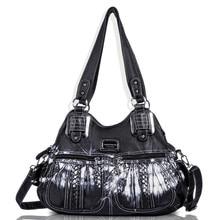 Angel Barcelo Women ladies crossbody pu leather super soft hanandbags totes roomy multiple pockets 0038Z