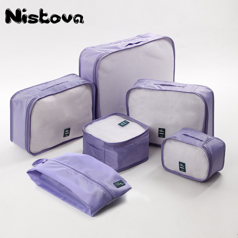 Durable Unisex Travel Bag 6Pcs/set Packing Cubes Set Organizer Luggage Bags Large Capacity Travel Hand Clothing Sorting Organize