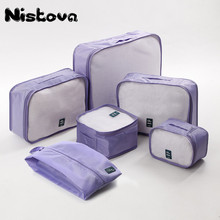 Durable Unisex Travel Bag 6Pcs/set Packing Cubes Set Organizer Luggage Bags Large Capacity Hand Clothing Sorting Organize