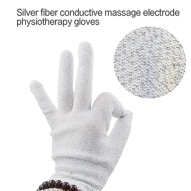 1 Set Stimulator Full Body Relax Muscle Massager Pulse Tens Acupuncture Therapy Slippers Gloves With 16PCS Electrode Pads 4