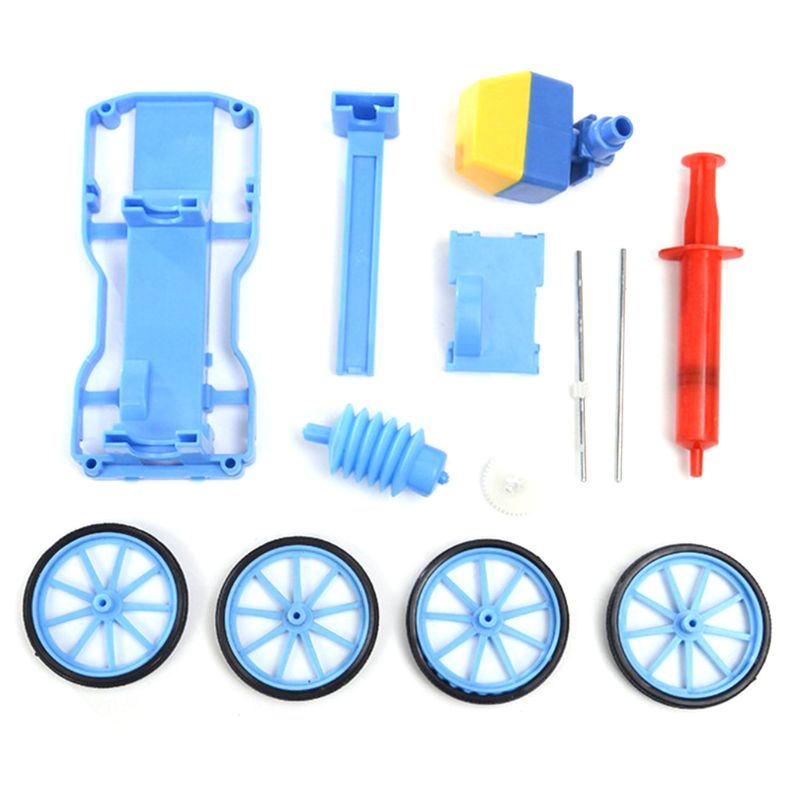DIY Air Compression Force <font><b>Pulley</b></font> <font><b>Car</b></font> Educational Toys Kid Scientific Education Experiment Model image