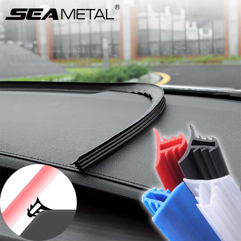 SEAMETAL Car Stickers Dashboard Sealing Strips goods For Mazda Ford Toyota BMW Audi