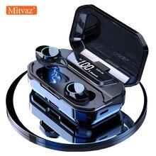 Mitvaz G02 TWS Bluetooth 5,0 стерео беспроводные наушники IPX7 водонепроницаемый светодиодный блок питания держатель телефона для xiaomi телефон нaушники