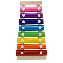 8 тон плеер стучит orff инструменты пианино Деревянный инструмент для детей Детские Музыкальные Развивающие игрушки с 2 молотками