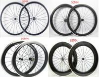 700C Width 23mm Chinese Carbon Road Bike Clincher Wheels 38mm 50mm 60mm 88mm Wheelset Alloy Brake