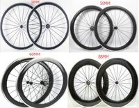 700C Width 23mm Chinese Carbon Road Bike Clincher Wheels 38mm 50mm 60mm 88mm Wheelset Alloy Brake